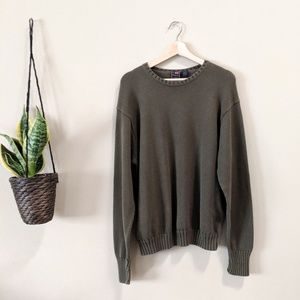 T. HARRIS Olive Green Vintage Oversized Sweater XL